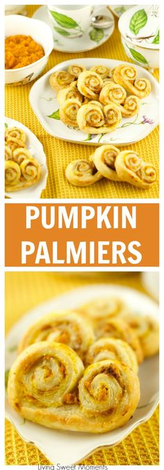... Palmiers: delicious crispy cookies filled with pumpkin and spice