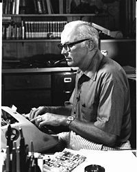 John D. MacDonald -- Mystery writer of the highest order.  Famous for his Travis McGee novels.