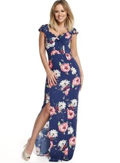 Pin for Later: Perfect Maxi Dresses For Lazy Spring Days  Kimberley Walsh floral maxi with open back (£69)