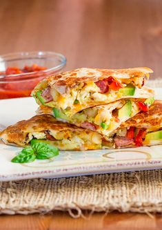 Breakfast Quesadillas make for a healthy and delicious breakfast, packed with flavor from some of my favorite ingredients.