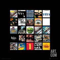 The Beatles: Album Collection Music Poster Poster Print at Art.com