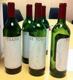 Lovely DIY wine labels as thank you notes for on the tables, with a special poem so throughout the night guests can read them (not planning on having alcohol so as to avoid any potential disasters) :P