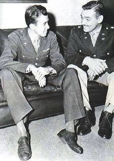 James Stewart and Clark Gable in 1943. Photo: USAAF.