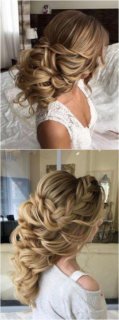 Long wedding updos and hairstyles from Elstile #weddings #weddingideas #hairstyles / http://www.deerpearlflowers.com/new-long-wedding-hairstyles-updos/4/ #weddinghairstyles