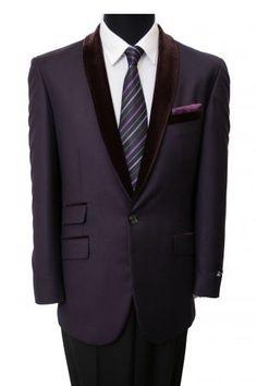 ee510e03b82e1 Details about Men s 1 Button Blazer Velvet Shawl Collar Dinner Party Suit  Tuxedo Jacket Coat