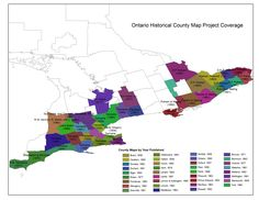 Ontario Historical County Map Project Map Projects, County Map, Family Research, Canadian History, Family Genealogy, Evernote, Web Application, Ancestry, Family History