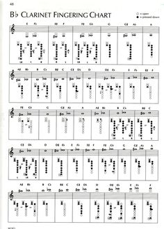FREE Printable Clarinet Fingering Chart | Music : Clarinet/Flute .