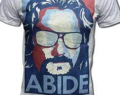 The Big Lebowski Abide Unisex T Shirt (Coen Brothers True Grit, Fargo) Cult Comedy Movie Tee - Graphic Tees For Men & Women