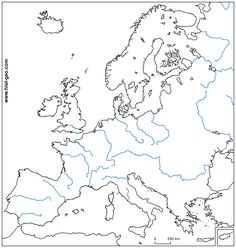 Looking for a free high definition outline map of european rivers to check your geography lessons? Print that blank map