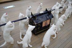 五美大展、杉山愛莉さん「大猫行列」(女子美術大学)