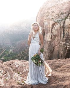INSTAGRAM TAKEOVER   Its @TylerRye_ here again! I feel so fortunate to live so close to places like Zion National Park! Southern Utah is home to some amazing National and state parks and I love taking my clients to them! With only a short hike to the top this spot is one of my favorite places to take first timers in Zion! #MRinstakeover  Bouquet @bybloomers, dress @truvellebridal, model @happilyeverallen