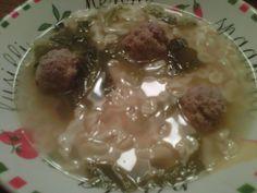 Yesterday's primo piatto...My homemade Italian wedding soup...