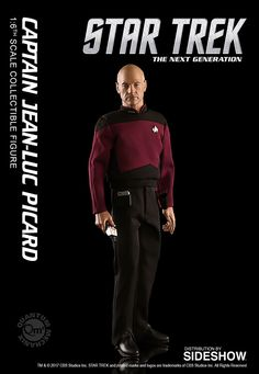 The Quantum Mechanix Captain Jean-Luc Picard Sixth Scale Figure is now at Sideshow.com for fans of Star Trek The Next Generation and Patrick Stewart.
