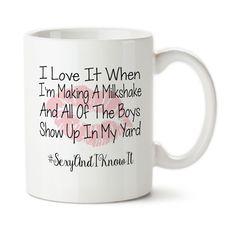 Funny Milkshake Mug, Lipstick Kiss, Boss, Work It Girl, Custom Mug, Tea Cup, Permanent Ink, Coffee Mug, Cup, 15 oz