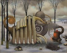 Paintings Of Unusual Hybrid Creatures By Jacek Yerka ‪#‎art people‬ via Art People Gallery FB