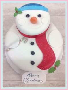 The Brilliant Bakers - Frosty Snowman Luxury Cake, £85.00 (https://www.thebrilliantbakers.co.uk/frosty-snowman-luxury-cake/)