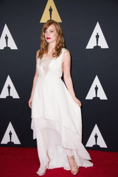 Jessica Chastain attends the 6th Annual Governors Awards  See more photos here: http://www.redcarpetreporttv.com/2014/11/10/its-official-awards-season-has-started-the-academys-2014-governors-awards-honors-harry-belafonte-maureen-ohara-hayao-miyazaki-and-jean-claude-carriere-theacademy-governorsawards-photos/