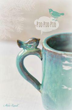 Noia Land: Bienvenida al invierno: Mi primera taza de cerámica.