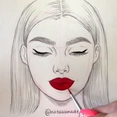 These are simply so satisfying! Never getting out of the outline - Art Drawings Girl Drawing Sketches, Girly Drawings, Art Drawings Sketches Simple, Pencil Art Drawings, Cartoon Drawings, Cool Drawings, Outline Drawings, Outline Art, Drawing Drawing