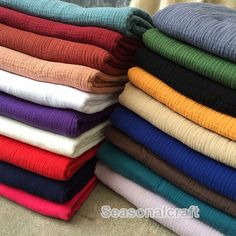 One yard Pure Linen Fabric, Gauze Creases Fold fabric,Transparent Linen Fabric- -  (QT775)