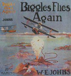Biggles Book - Biggles Flies Again Bedtime Reading, I Love Reading, Books For Boys, Childrens Books, Book Cover Art, Book Covers, Cool Books, My Books, Flying Boat