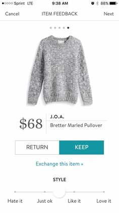 I love Stitch Fix! A personalized styling service and it's amazing!! Simply fill out a style profile with sizing and preferences. Then your very own stylist selects 5 pieces to send to you to try out at home. Keep what you love and return what you don't. Only a $20 fee which is also applied to anything you keep. Plus, if you keep all 5 pieces you get 25% off! Free shipping both ways. Schedule your first fix using the link below! #stitchfix @stitchfix. Stitchfix Fall 2016. Stitchfix Winter…