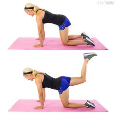 Image result for how to do kneeling bent leg lifts