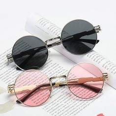 Women Vintage Round Protection Sunglasses Causal Steam Punk Round Eyeglasses is hot sale at NewChic, Buy cool sunglasses now. Cool Sunglasses, Cat Eye Sunglasses, Sunglasses Women, Sunnies, Vintage Sunglasses, Italian Sunglasses, Trending Sunglasses, Round Eyeglasses, Eyeglasses For Women