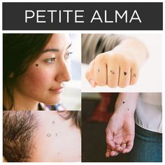 Super simplistic symbols by Petite Alma. | 15 Incredible Artists Who Will Change Your Mind About Temporary Tattoos