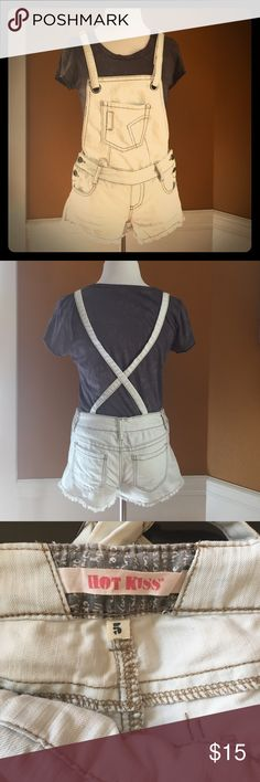 Short overalls Super cute short overalls by Hot Kiss Hot Kiss Shorts Jean Shorts