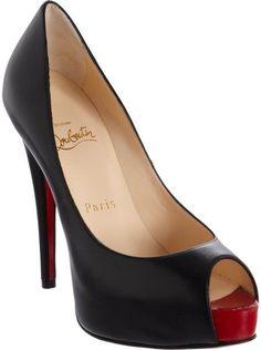 6c75b133a5e CHRISTIAN LOUBOUTIN Vendome Peep Toe Pumps - Lyst Christian Louboutin Shoes