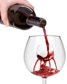 Self-aerating wine glass, wineglass within a wineglass. Wine-ception!