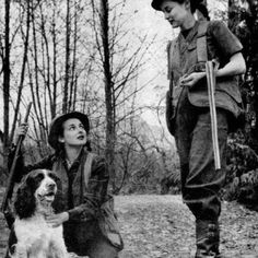 Bird dog and the huntress...sweet!