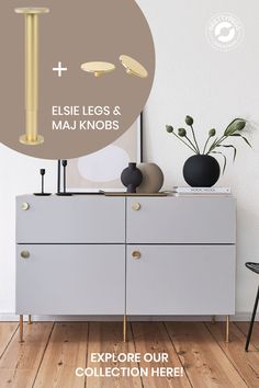 Add our legs and knobs for a more unique style. Dream Dining Room, Guest Room Office, Decor, Home Diy, Furniture, Interior, Bedroom Closet Design, Ikea Furniture, Home Decor
