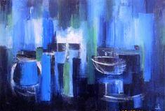 View: Still life on blue background | Artfinder
