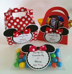 Favores de fiesta de Minnie Mouse Minnie Mouse por MyCraftySides