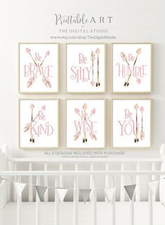 Woodland Arrows - Set of 6 - Printable Art Nursery Wall Decor, Baby Room Decor, Nursery Room, Girl Nursery, Nursery Ideas, Girls Bedroom, Bedrooms, Bedroom Decor, Arrow Nursery