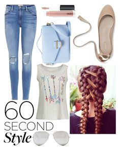 """""""Quick and Easy #PVshareyourstyle #60secondstyle"""" by landi-ruthven on Polyvore featuring Frame, Sunny Rebel, Cynthia Rowley, MAC Cosmetics, 60secondstyle and PVShareYourStyle"""