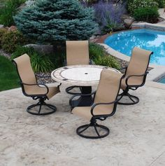 Backyard Creations 6Piece Avondale Balcony Dining Collection at