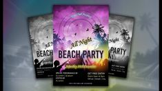 Adobe Illustrator Tutorial | How to Design a Flyer (Beach Party)
