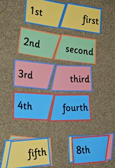 Ordinal number puzzle from Activity Village Maths Resources, Activities, Ks1 Maths, Activity Village, Ordinal Numbers, Number Puzzles, Homeschool, Action, Group Action