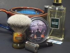 SOTD Gillette Black Beauty/Feather blade TSN LE Simpson Phyl 8 G12 scuttle Van Yulay Tobaco Polveron Guerlain Vetiver aftershave Aftershave, Safety Razor, Black Beauty, Shaving, Blade, Perfume Bottles, Feather, Van, After Shave