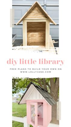 DIY Little Library FREE plans! Such a fun way to engage with the community, love this little library to display in the front yard for a book exchange! Little Free Library Plans, Little Free Libraries, Little Library, Built In Entertainment Center, Mini Library, Lending Library, Community Library, Library Design, Design Desk