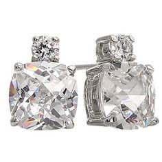 Cushion Cut CZ Diamond Earrings