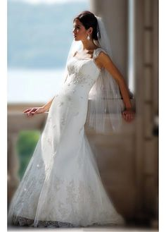 LACE BRIDESMAID PARTY BALL EVENING GOWN IVORY WHITE FORMAL PROM SATIN AND TULLE WEDDING DRESS