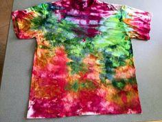 Tie dye with ice