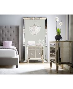 Furniture Rosalind Upholstered Bedroom Furniture Collection - Furniture - Macy's - July 21 2019 at Mirrored Bedroom Furniture, Bed Furniture, Furniture Design, Furniture Ideas, Furniture Stores, Cheap Furniture, Wooden Furniture, Furniture Dolly, Mirrored Dresser