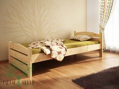 Łóżko sosnowe Svenja to prosta, zgrabna konstrukcja, doskonale wpisująca się w zróżnicowane style wnętrz. #bed #łóżko #meble #sklep #tartakmeble