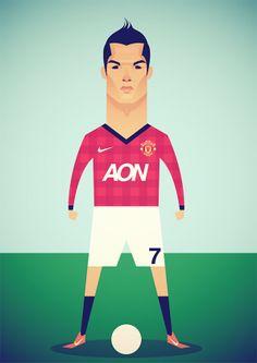 Me gustaría ver a Cristiano Ronaldo de regreso en el Manchester United. ¡Como que sí se va a dar! [29Jun13] | Stanley Chow Illustration of Manchester England.