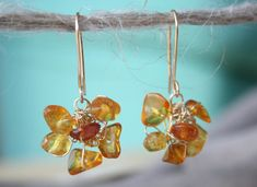 These delicate AMBER FLOWER Earrings are NEW in my Amber collection and absolutely unique in design! They were made of Genuine Natural Baltic Amber